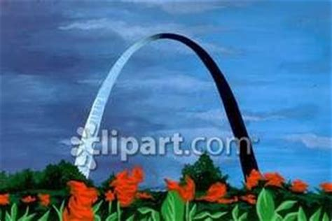 Cost Of Missouri Boating License by The St Louis Arch In Missouri Royalty Free Clipart Picture