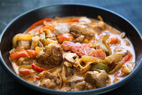 turkey stew  peppers  mushrooms recipe