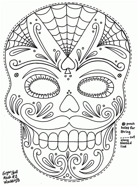 sugar candy skulls coloring pages coloring home