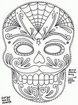 Coloring Candy Pages Sugar Skulls Skull Halloween Popular Ppe sketch template