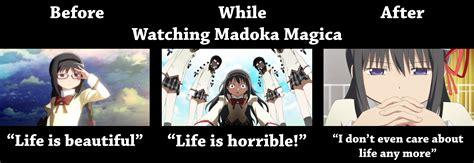 Madoka Magica Memes - before madoka while and after madoka puella magi madoka magica know your meme