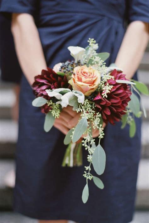 burgundy  navy wedding color ideas deer pearl flowers