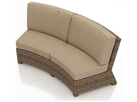 forever patio cypress wicker cushion curved sofa fp cyp