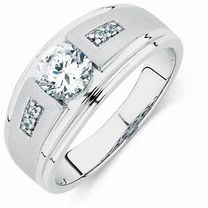 men39s ring with cubic zirconias in sterling silver With michael hill mens wedding rings
