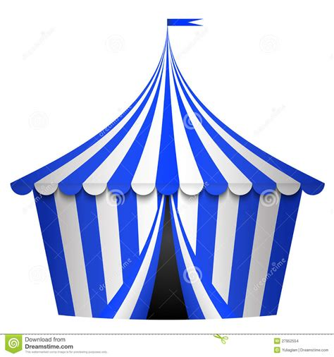 blue circus tent stock images image