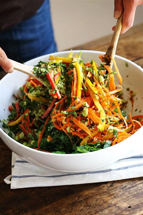 thai salad chopped thai salad with sesame garlic dressing recipe pinch of yum