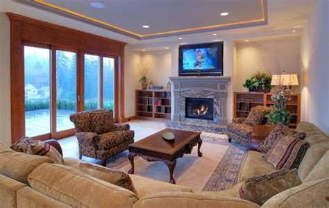 Living Room With Fireplace And Bookshelves living room home design ideas image gallery epic home