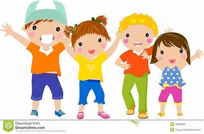 Clipart Children Fun Having Groupe Kid Enfants
