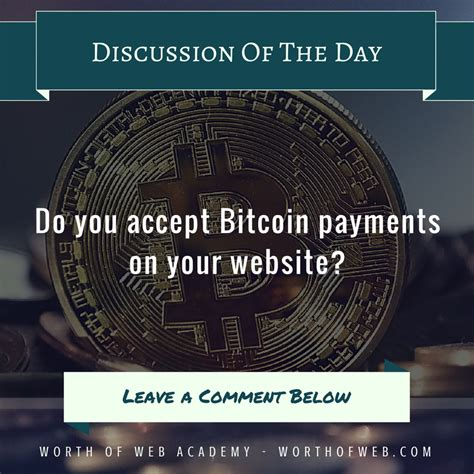 The easiest way to receive bitcoin payments on your website with coinbase is to use payment buttons. Discussion of the day: Do you accept Bitcoin payments on your website? > Share your thoughts ...