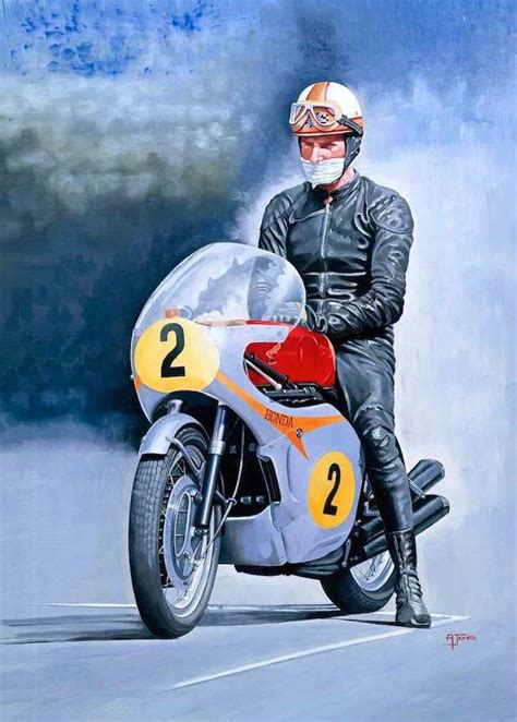 mike hailwood honda motorcycle art bike art racing