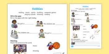 hobbies worksheet worksheet literacy twinkl