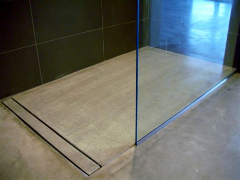concrete bathroom floor mode concrete modern open concept bathroom featuring a concrete floor a curbless shower and