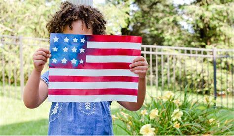 ADORABLE Patriotic American Flag Kids Craft Easy