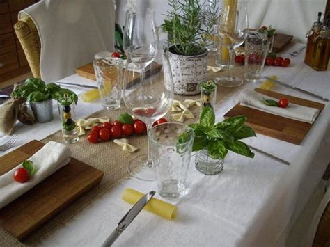 Glass Candle Holders Noodles Italian Themed Dinner by Table Decoration Ideas Celebrating Italian Theme