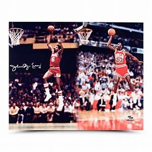 Michael Jordan & Julius Erving Dual Autographed & Framed ...