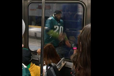 Who Ran Brian by Eagles Fan Who Ran Into Subway Pillar Hopefully I Made