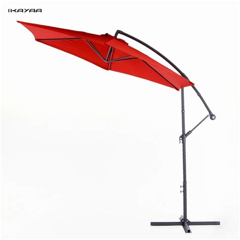 best patio umbrella base for wind ikayaa us stock 3m patio umbrella gear crank