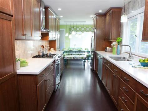 narrow galley kitchen design ideas galley kitchen designs hgtv 7059