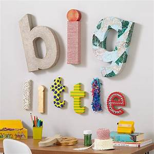 wall letters wooden wall letters the land of nod With paper alphabet letters for wall