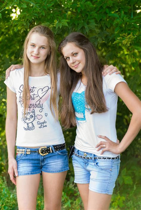 Teen Girls In Park Stock Photo Image Of Nature Summer