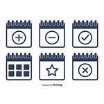 Calendar Vector Icons Icon Flat Clipart Vecteezy