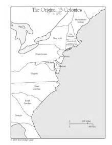 Blank 13 Colonies Map Worksheet