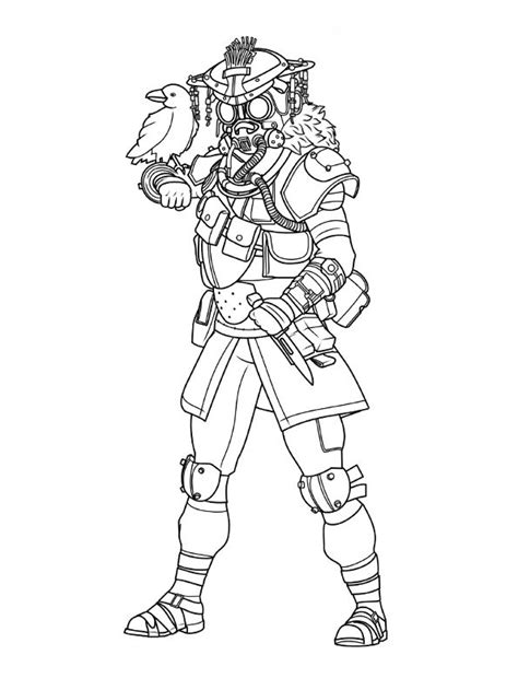 kids  funcom coloring page apex legends bloodhound