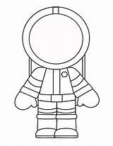 Astronaut Preschool Craft Template Crafts Space Visit sketch template