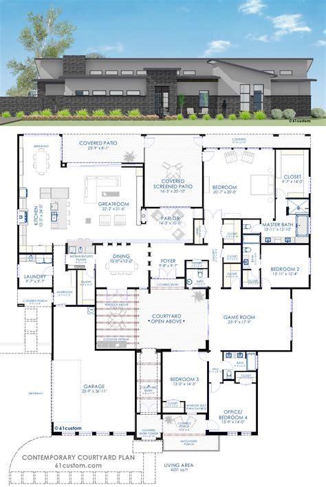 courtyard home plans contemporary courtyard house plan courtyard house plans