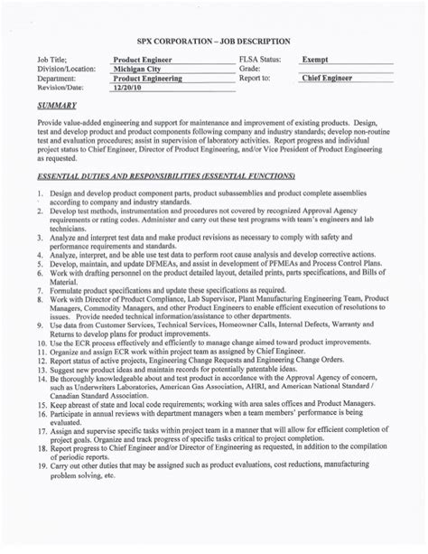 product engineer resume resume production engineer