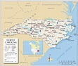 Map of the State of North Carolina, USA - Nations Online ...