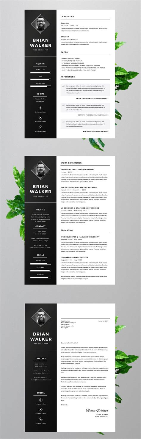 Free Cv Templates To Use by Free Resume Template For Microsoft Word Adobe Photoshop