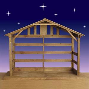 """Wood Nativity Stable - Outdoor - 70"""" High"""