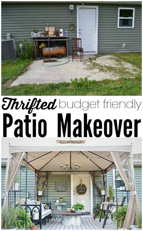 back patio makeover reveal source list