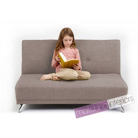 Childrens Settee by Light Grey Clic Clac Children S 2 Seater Sofa Bed