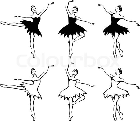 ballet frau taenzer vector illustration vektorgrafik
