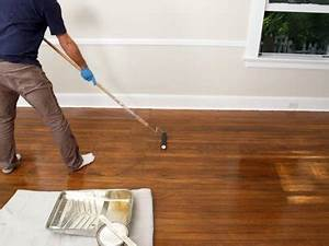 How to refinish hardwood floors bob vila for How to apply polyurethane to wood floors