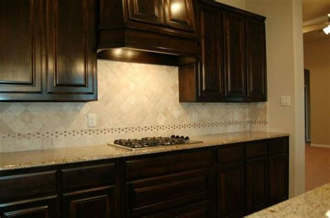 Lt Ivory tumbled marble backsplash,   McBee Homes   Pinterest