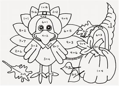 Coloring Thanksgiving Table Pages Sampler Printable Kindergarten