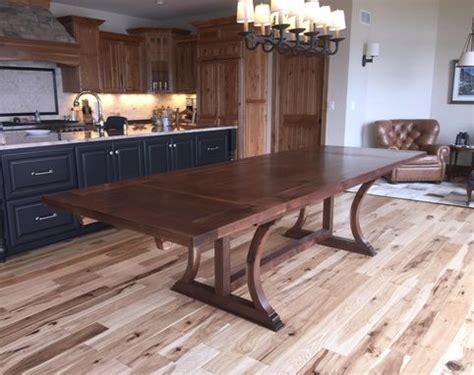 buy  hand  walnut dining table  trestle legs