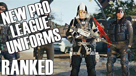 rainbow  siege ranked  pro league uniforms