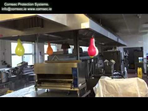 Wet Test on Kitchen Hood Fire Suppression   YouTube