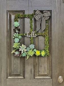 cute, succulent, spring, wreath, made, with, a, cheap, chicken, wire, frame, , ud83d, ude0d, in, 2020