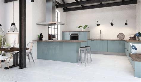 cuisine bleu pastel dix cuisines bleues à l 39 esprit grand large inspiration