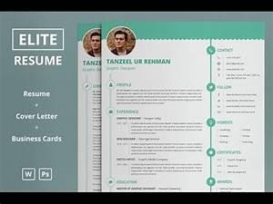 Vitae Resume Elite Resume Cv Template Microsoft Word Photoshop
