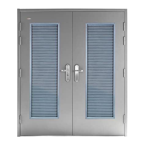 louvered doors double steel doors  accessories  doors  security