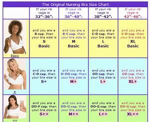 Nursing Bra Size Chart Baby W Pinterest Bra Size