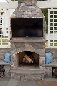 Fireplace Designs With Tv Stone Age Manufacturing Outdoor Fireplaces New England