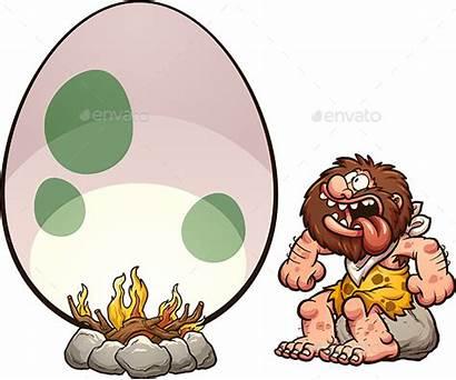 Caveman Hungry Vector Emoji Cartoon Premium Clip