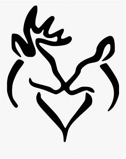 Deer Doe Buck Silhouette Heart Clipart Clipartkey